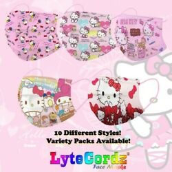 Child Toddler Kids Protective 3 Ply Face Mask Disposable Girls Hello Kitty $7.99