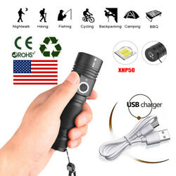High Power 90000LM Flashlight On or off click Work Light Complete with strap BT $23.07