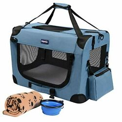 Soft Sided Pet Carriers for Cats Small Dogs3 Door Soft Sided Folding Blue $102.77