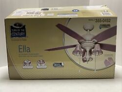 Ceiling Fan Pink Turn of Century Ella 48 Inches Beaded Shades NEW in Open Box $149.99