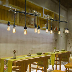 Industrial Water Pipe Chandelier Lighting 5 Head Pendant Ceiling Lamp Iron E27 $80.75
