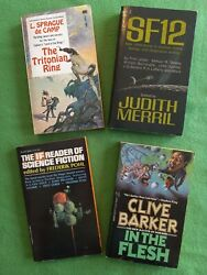 Lof of 4 Vintage Science Fiction Horror Fiction Paperback Books Pohl Very Good $9.91