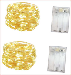 2 Pack Battery Operated Mini Led LightsIndoor Fairy Lights with Timer 6 Hours