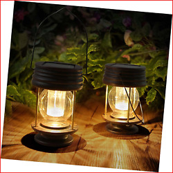 pearlstar Solar Lanterns Outdoor Hanging Solar Lights with Handle for Pathway $28.03