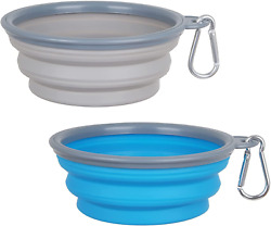 Collapsible Dog Bowl2 Pack Portable and Foldable Pet Travel Bowls Collapsable D $12.99