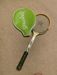 VintageSpalding Pancho Gonzales Wood Tennis Racquet 4 3 8quot; Grip with Cover $14.95