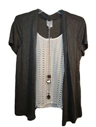 Naif Womens Blouse Size Small With Attached Necklace $23.95