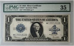 1923 One Dollar Silver Certificate PMG 35 Choice Very Fine quot;Starquot; Large Note $300.00