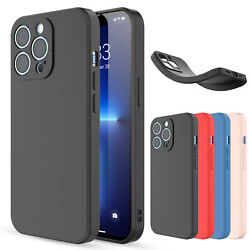 For iPhone 13 Pro MaxProMini Case Liquid Silicone Shockproof Soft Slim Cover $6.95