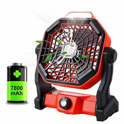Portable Camping Fan With LED Lantern Battery Operated Powered And Personal USB $27.73