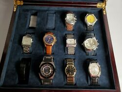 Invicta Stuhrling Armani Mens Watches Lot Of 9 Nice Pre Owned Please Read $499.99