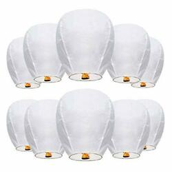 10 Pack Wishing Lanterns 35.4″ Refined Floating Lanterns Made of Fire Resista... $31.52