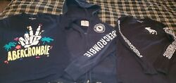 LOT OF 3 ABERCROMBIE FITCH KIDS HOODIE T SHIRT BOYS 9 10 $14.99