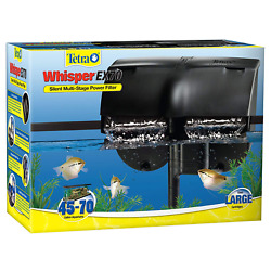 Tetra Whisper EX Silent Multi Stage Power Filter for Aquariums 45 70 Gallons $35.99