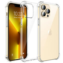 For iPhone 13 Pro Max Pro Mini Clear Case Soft TPU Slim Shockproof Crystal Cover $6.95