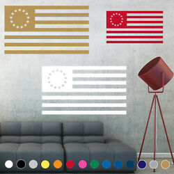 Betsy Ross American Flag Decal 13 Colonies States Wall Living Room House Decor $6.45