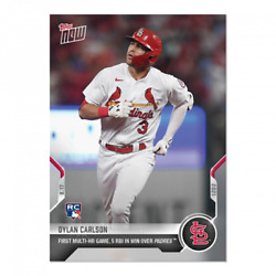 2021 Topps Now #821 Dylan Carlson RC St. Louis Cardinals PRESALE $5.25