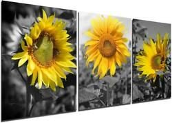 Sunflower Canvas Wall Art Painting Country Decor Pictures Living Room Bedroom $15.89