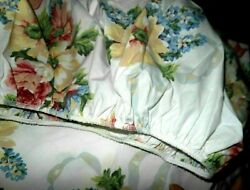 Vintage Martha Stewart Double Full Fitted Sheet Floral Rose amp; Lilac Shabby Chic $19.88