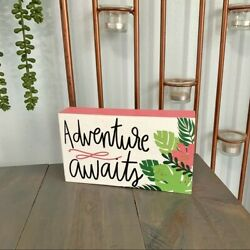 Pen amp; Paint Hobby Lobby Adventure Awaits Tropical Wooden Sign Multicolored Decor $14.00