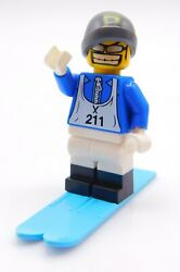 Lego Minifigure downhill cross country skier male Inv 87 $2.99