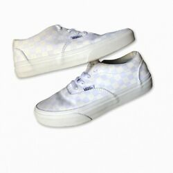 Vans Off The Wall White Checkerboard Skate Shoes Unisex's Junior's Size 2 $26.00