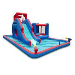 Deluxe Inflatable Water Slide Park – Heavy Duty Nylon Bounce House for Outdoor $850.92