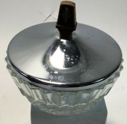 Vintage Glass Candy Trinket Dish With Metal Lid $9.99
