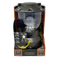 New Enbrighten LED Lantern Camping Power Outage Emergency 800 Lumens USB $39.99