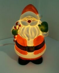 Porcelain Bisque Christmas Lamp J.S.N.Y Corded Santa Lamp in Great Condition $15.95