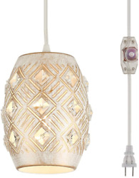 YLONG ZS Hanging Lamps Swag Lights Plug in Pendant Light 16 FT Cord and Pendant $51.50
