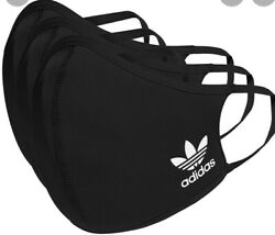 adidas Face Mask Cover Protection Black M L 3 Pack $8.90
