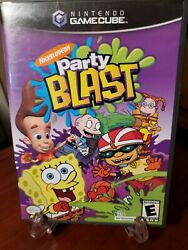 Nickelodeon Party Blast Nintendo GameCube 2002 Complete and Fast Shipping $9.99