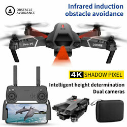 4K WiFi Quadcopters 4 axis RC Drone Infrared Quadcopter Dual Camera 3 Batteries $57.99