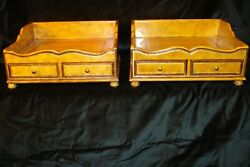 Maitland Smith Vintage Desk File Holders Very Beautiful and Well Made $688.00