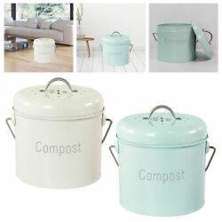 3L Compost Bin Indoor with Lid Kitchen Composter Compost Pail Rust Proof $36.57