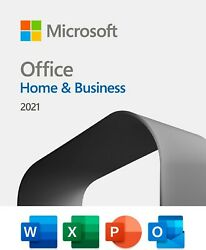 Microsoft Office Home And Business 2021 1 Device PC MAC 1 User Key Card $219.99
