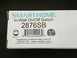 SMARTHOME IN WALL ON OFF SWITCH 2876SB WHITE $25.00