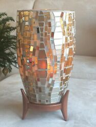 PARTYLITE MOSAIC HURRICANE Candle Holder Retired $34.00