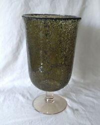 PARTYLITE MOSAIC HURRICANE Candle Holder Mint in brown Box Retired $16.00