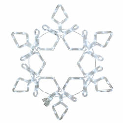 Northlight 48quot; LED Rope Light Snowflake Commercial Christmas Decoration