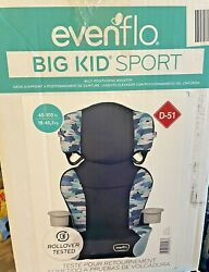Evenflo Big Kid Sport Car Seat Rollover Tested Blue Print New In Box $42.07