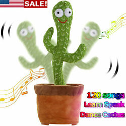 Dancing Cactus Plush Toy Electronic Shake w 120 Songs Funny Cute Toys kids Gift $14.99