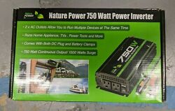 Nature Power 750W Power Inverter w 2 AC Outlets amp; 1500W Surge 37750 BRAND NEW $43.95