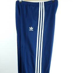 Adidas Vintage Firebird Mens Track Pants Size XS Blue 3 Stripes Tapered Soccer $21.00