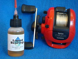 Liquid Bearings BEST 100%-synthetic oil for all baitcasting reels READ! $13.99