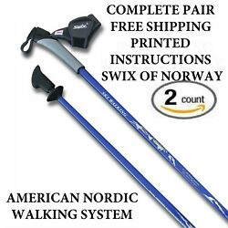 REAL NORDIC SKI WALKING POLES FROM SWIX LEKI EXEL HIKING AND TREKKING STICKS $79.95