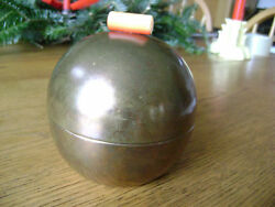 Art Deco Globe Cigarette Box - Copper w Catalin finial