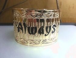 30MM 14K YELLOW GOLD HAWAIIAN CUSTOM HAND ENGRAVED PERSONALIZED BANGLE 6.5-9.0