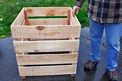 Cedar Wood Compost Bin Stackable. Easy To Turn Over Fluff Compost Free Shipping $89.00